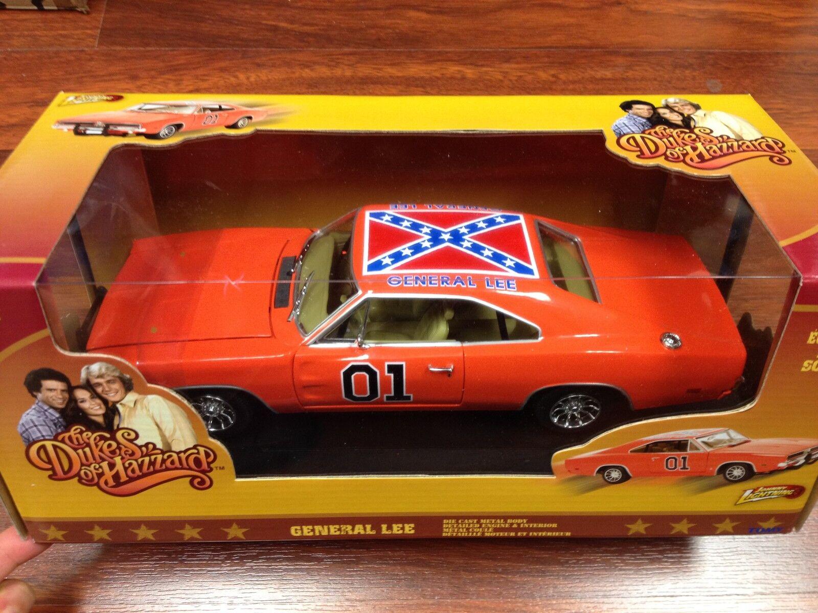 1 18 1969 Dodge Charger Flag General Lee Dukes of Hazzard Johnny Lightning
