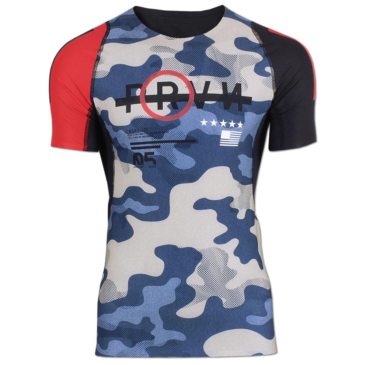Reebok Herren CrossFit Camo Compression Shirt Trainingsshirt Fitness Running