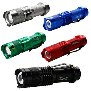 5PCS color UltraFire CREE 7W 300LM CREE Q5 LED Zoom ...