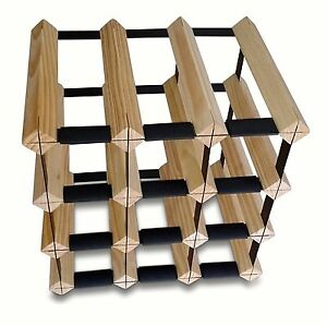 12 Bottle Timber Wine Rack Complete Wooden Wine Storage System-shipped 24 Hours