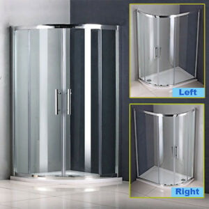 Offset-Quadrant-Shower-Enclosure-Walk-In-Corner-Cubicle-Glass-Door-Stone-Tray