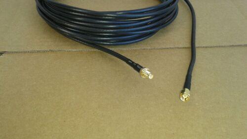 Coax  Cable US MADE 100 ft  RG-58  SMA Male R//P  to  SMA Female  R//P 50 ohm