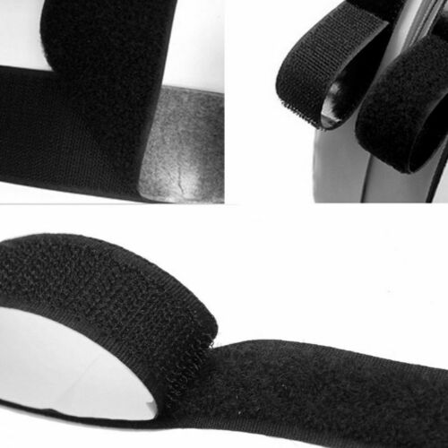 Top 2 in1 Selbstklebendes Klebeband Haken und Loop-Verschluss Neu 1mx20mm