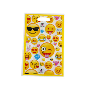 Image Is Loading 10x Emoji Theme Party Gift Bags Candy Bag