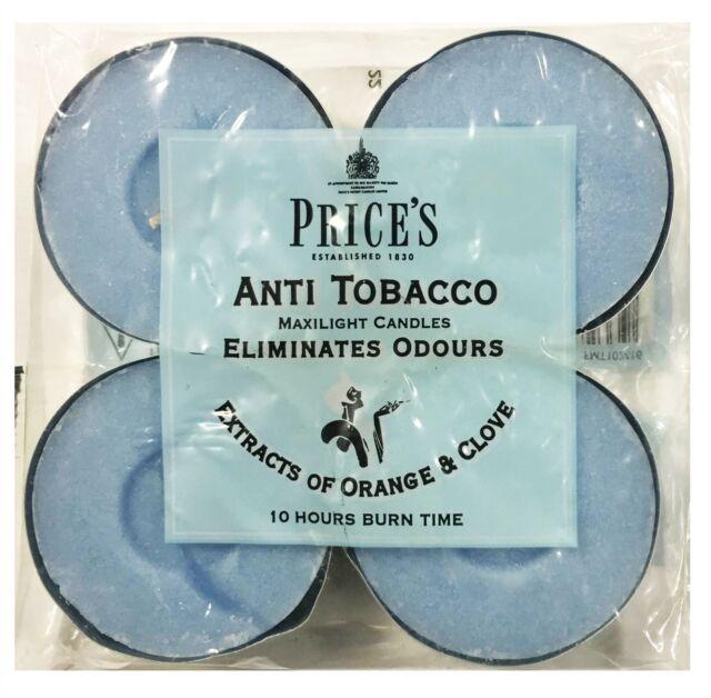 6 x Prices Anti Tobacco Candle In Jar Eliminates SmellsTobacco /& Smoking Odours