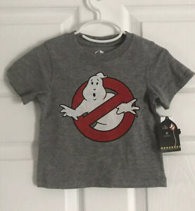 GHOSTBUSTERS-Boys-Logo-Short-Sleeve-Tee-Gray-Size-12-Months