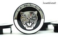 Jaguar (set Of 4) 59mm Black Wheel Center Caps C2d9611 Wc4pc582