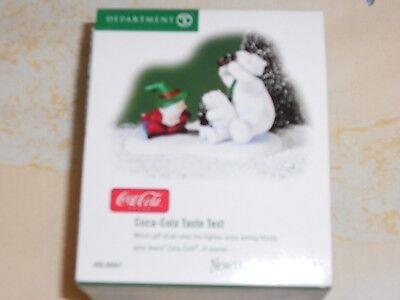Coca-Cola Have A Coke And A Smile NIB Free Ship Dept 56 North Pole Accessory