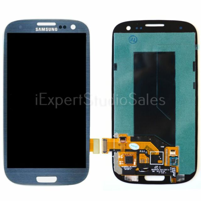 Blue Samsung Galaxy S3 Digitizer LCD Touch Screen Assembly for t999 i747 i535
