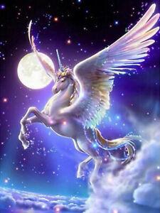Cartoon Unicorn Wing Horse Full Drill 5d Diamond Painting Fashion Decor N6039 Ebay