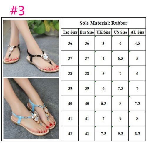 Gladiator Womens Bohemia Summer Flat Shoes T Strap Flip Flop Sandals Casual Hot