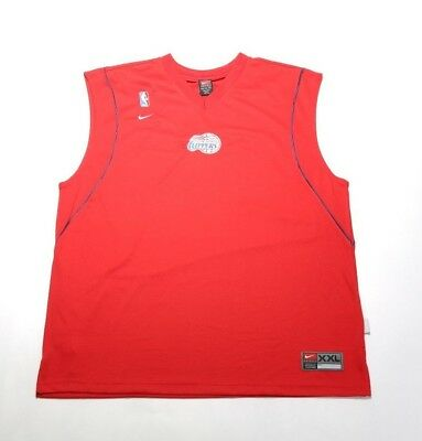 Activewear Vintage 2003 Nike Los Angeles Clippers Pregame Jersey Nssv04780cp1 Red Limpid In Sight