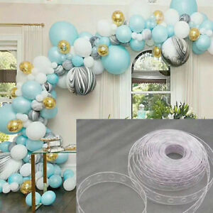 Details About 5m Balloon Decorating Strip Connect Chain Balloon Arch Strip Plastic Decor Diy