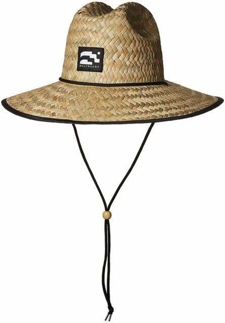 3b257da1 Brooklyn Surf Men's Straw Sun Lifeguard Beach Hat Raffia Wide Brim, One Size