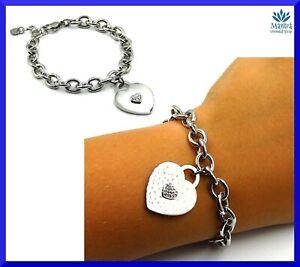Bracciali-da-donna-in-acciaio-inox-catena-maglia-cuore-zirconi-braccialetto-A