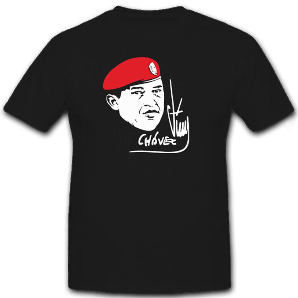 Hugo Chávez Unterschrift Portrait Politiker Offizier - T Shirt  7208   | Jeder beschriebene Artikel ist verfügbar  | Perfekt In Verarbeitung  | Exquisite (in) Verarbeitung
