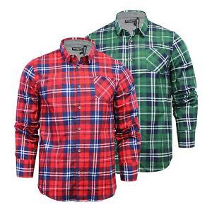 Mens Lumberjack Shirt Brushed Cotton Flannel Casual Long Sleeve Brave Soul