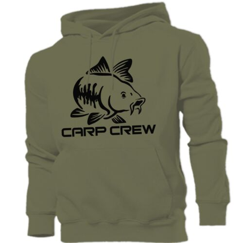 Carpa Crew Hunter Pesce Gatto PIKE PESCA A MOSCA SPINNING Felpa con Cappuccio Tutte le Taglie S-XXL