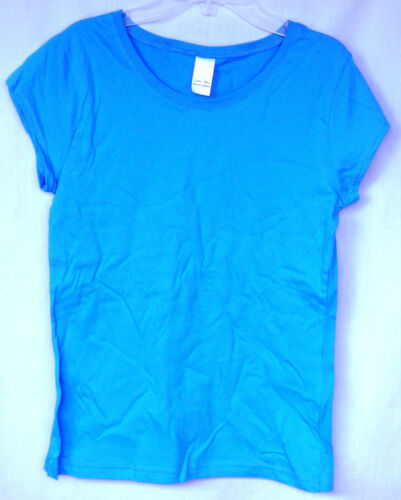BASIC 100/% ctn TURQUOISE Cap Sleeve Solid Tee Shirt 2 for $1.49.GIRL SIZES NWOT