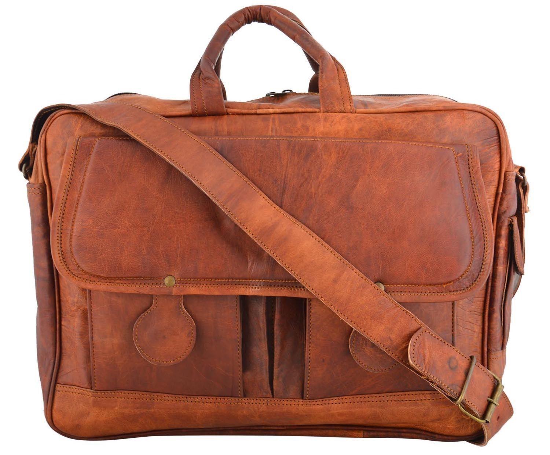 Herren RealGoat Leder Vintage Braun Messenger Bag Schulter Laptop Tasche Tasche Tasche Aktenko | Reichhaltiges Design  e0dbe7