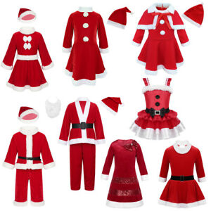 Kids-Boys-Girls-Christmas-Santa-Clause-Costume-Xmas-Party-Fancy-Dress-Hat-Outfit