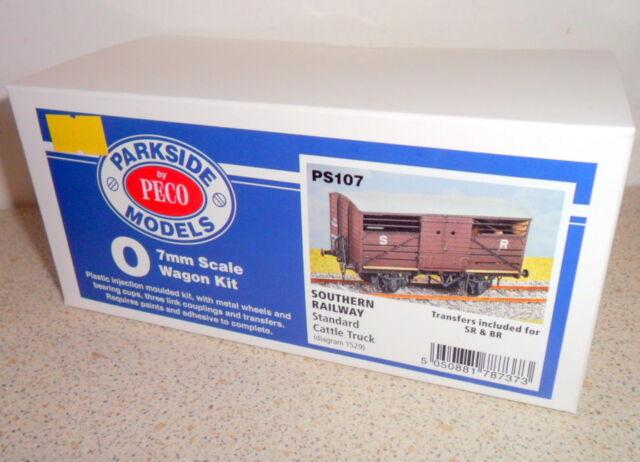 New Peco Parkside Models PS107 Southern Railway Standard Cattle Truck O Gauge