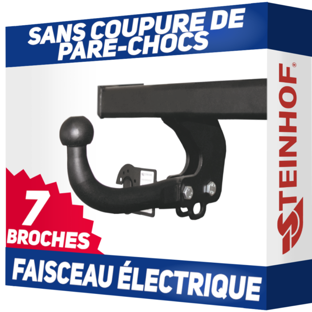 Peugeot 206 SW Break 02-07 Attelage fixe+faisceau 7 broches