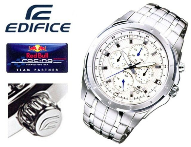 EF-328D-7A White Genuine New Casio Watch Edifice Month Date Day 24-Hour