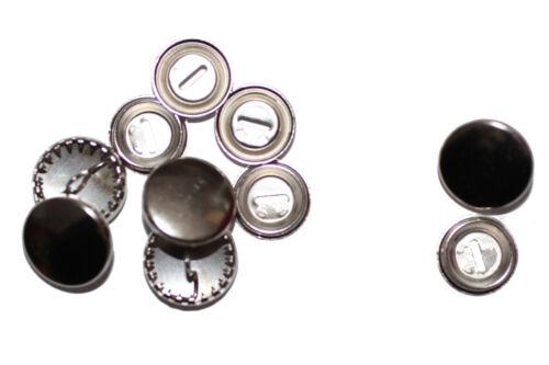 Überziehbare Knöpfe 15mm Knopfrohlinge aus Metall 10 Stück