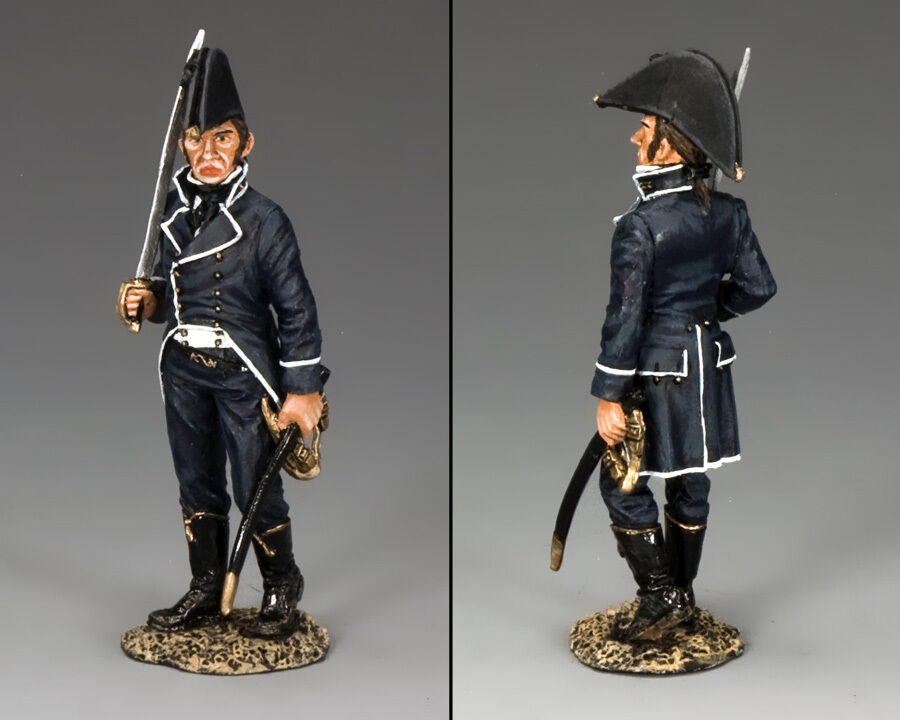 KING AND COUNTRY R.N. First Lieutenant NE046 NE46 Painted Metal