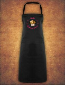 Personalised-Cup-Cake-Baking-Queen-Christmas-Present-Gift-Apron-Gift-Black