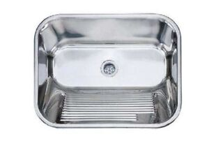 Edelstahl Ausgussbecken 53x43x21 Waschbecken Keller Waschkuche