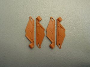 Lego 5 New Dark Orange Bionicle Wings Small Pieces
