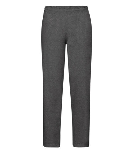 Fruit Of The Loom Mens Casual Classic Plain Fleece Open Hem Jog Pants Bottoms