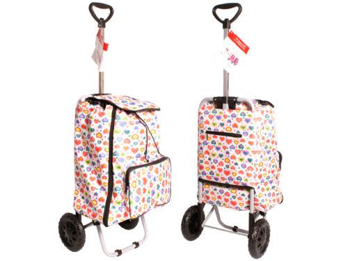 Shopping Trolley Poids Léger à Roues Festival Bagages Panier marché Sac /& Roues