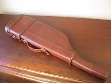 Vintage Edwardian Style Shotgun Rifle Leather Leg of Mutton Cartridge Gun Case