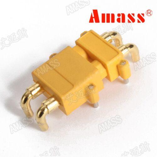 5 Sets Amass XT30PW 2-Core Horizontal connecteur faible élévation de température de Flamme Retardent