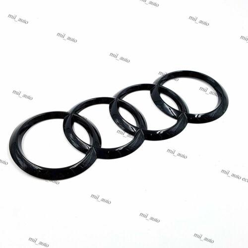 Nuevo Negro Brillante Trasera atrás Insignia Anillo logotipo Emblema brillante AUDI Q5 Q7 200x70mm