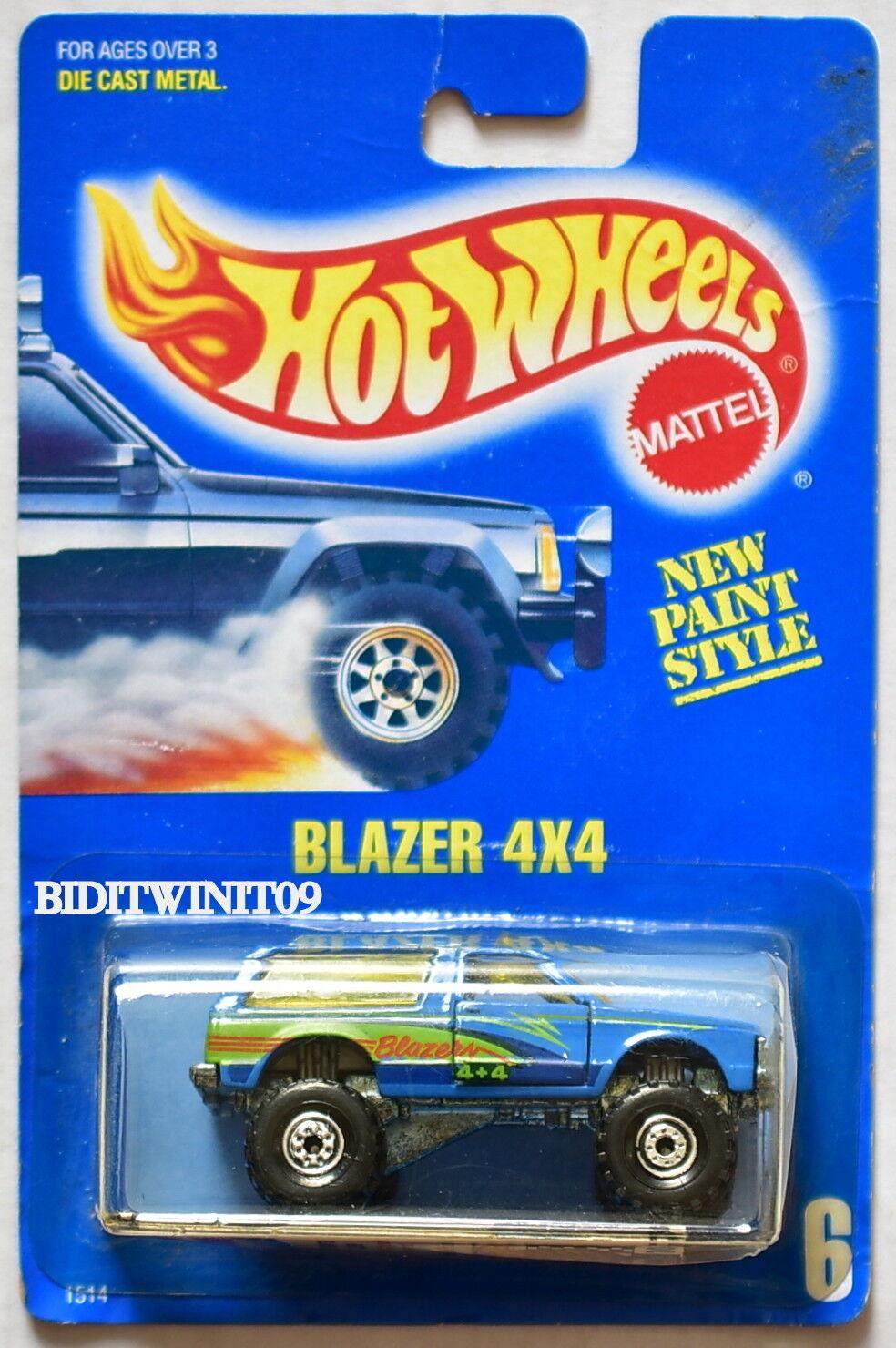 Hot Wheels 1989 Blau Blau Blau Karte Blazer 4X4  6 Konstruktion Hub 08 W    Niedrige Kosten  71b149