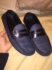 Louis Vuitton Shade Moccasin Men's Shoes (dark Denim And Brown) 9