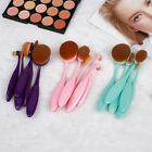 5pcs Makeup Oval Toothbrush Eyeshadow Cosmetic Soft Tool Set Portable Brushes