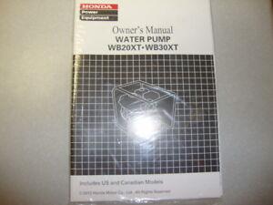 honda wb20xt wb30xt water pump owner s manual ebay rh ebay com Honda WB20 Honda WB30XT Water Pump