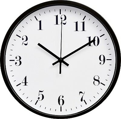 2 types of BACKWARDS, REVERSE wall clocks (12 inches)