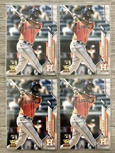 Lot of (4) 2020 Topps Series 1 Yordan Alvarez Rookie Card #276 Astros! 🔥💎