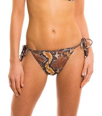 Kiniki Vesper Tan Through Sonnendurchlässiger Seitlich Zu Bindender Bikini Tanga