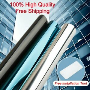 One Way Mirror Reflective Home Window Film Privacy Glass Solar Tint Foil Sticker