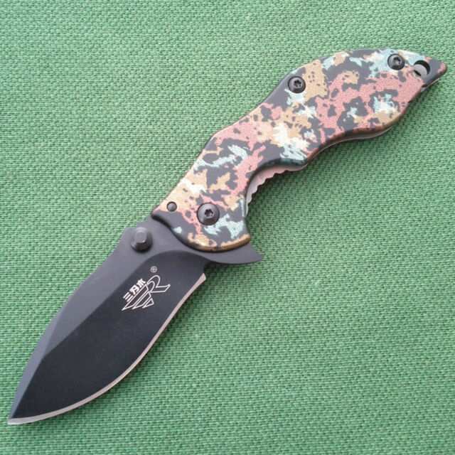 Sanrenmu 6026LUI-SGT Pocket EDC Folding Knife Tool Monolock 2013 New Version
