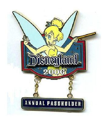 TINKER BELL 2006 ANNUAL PASSHOLDER PIN Disney Disneyland AP Pixie Tink DLR NEW