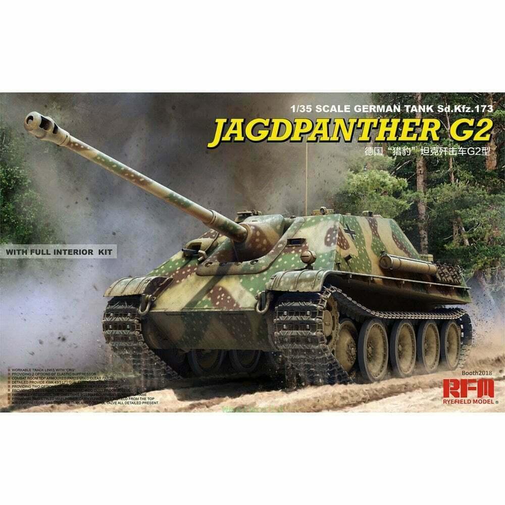 Rfm Ryefield Modelo Jagdpanther G2 German Tank 173 ,1  3 5 Kit Construcción 5022