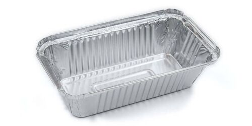 500 Pieces Allumunium Foil Tray Containers 11 X 19 X 4 Cm